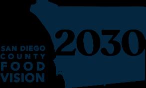 San Diego County Food Vision 2030 - logo in dark blue